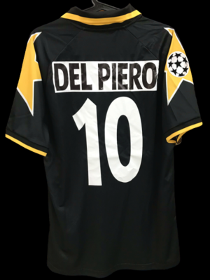 JUVENTUS 1996 1997  MODEL LIKE  MATCH WORN PLAYER VERSION MATCH ISSUE PATCH SERIE A 1996 1997 ALESSANDRO DEL PIERO 10