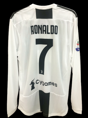 JUVENTUS 2018 2019  MODEL LIKE  MATCH WORN PLAYER VERSION MATCH ISSUE PATCH SERIE A 2018 2019 CRISTIANO RONALDO CR7