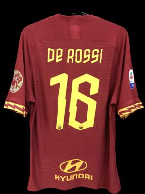 ROMA 2019 2020 DANIELE DE ROSSI 16 De Rossi farewell  MODEL LIKE  MATCH WORN PLAYER VERSION MATCH ISSUE LAST MATCH DANIELE DE ROSSI 16