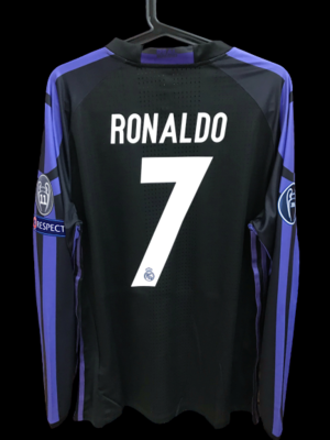 REAL MADRID  MODEL LIKE  MATCH WORN PLAYER VERSION MATCH ISSUE PATCH CHAMPIONS 2016 2017 CRISTIANO RONALDO CR7