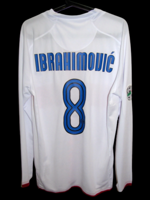INTER MAGLIA CENTENARIO CENTENARY JERSEY  MODEL LIKE  MATCH WORN PLAYER VERSION MATCH ISSUE PATCH SERIE A IBRAHIMOVIC 8