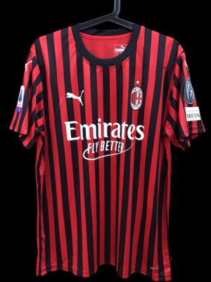 AC Milan 2019 2020  MODEL LIKE  MATCH WORN PLAYER VERSION MATCH ISSUE  PLAYER 2019 2020 PATCH SERIE A