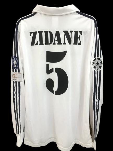 REAL MADRID  MODEL LIKE  MATCH WORN PLAYER VERSION MATCH ISSUE PATCH CHAMPIONS Real Madrid 2001 2002  ZINEDIN ZIDANE 5