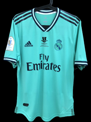 REAL MADRID  MODEL LIKE  MATCH WORN PLAYER VERSION MATCH ISSUE SUPERCUP SUPERCOPPA 2019