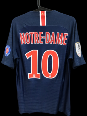 PSG NOTRE DAME  MAGLIA CASA  MODEL LIKE  MATCH WORN PLAYER VERSION MATCH ISSUE 2018 2019 PARIS ST GERMAIN 18 19