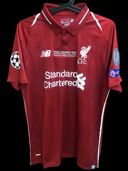 LIVERPOOL MODEL LIKE  MATCH WORN PLAYER VERSION MATCH ISSUE FINAL CHAMPIONS LEAGUE 2019 MADRID