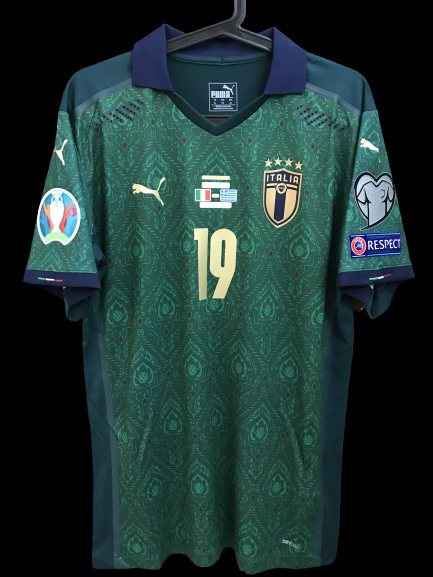 ITALIA 2020   MODEL LIKE  MATCH WORN PLAYER VERSION MATCH ISSUE ITALY JERSEY 2020