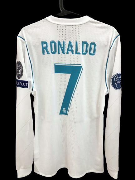 REAL MADRID  MODEL LIKE  MATCH WORN PLAYER VERSION MATCH ISSUE FINAL CHAMPIONS LEAGUE 2018 CRISTIANO RONALDO CR7