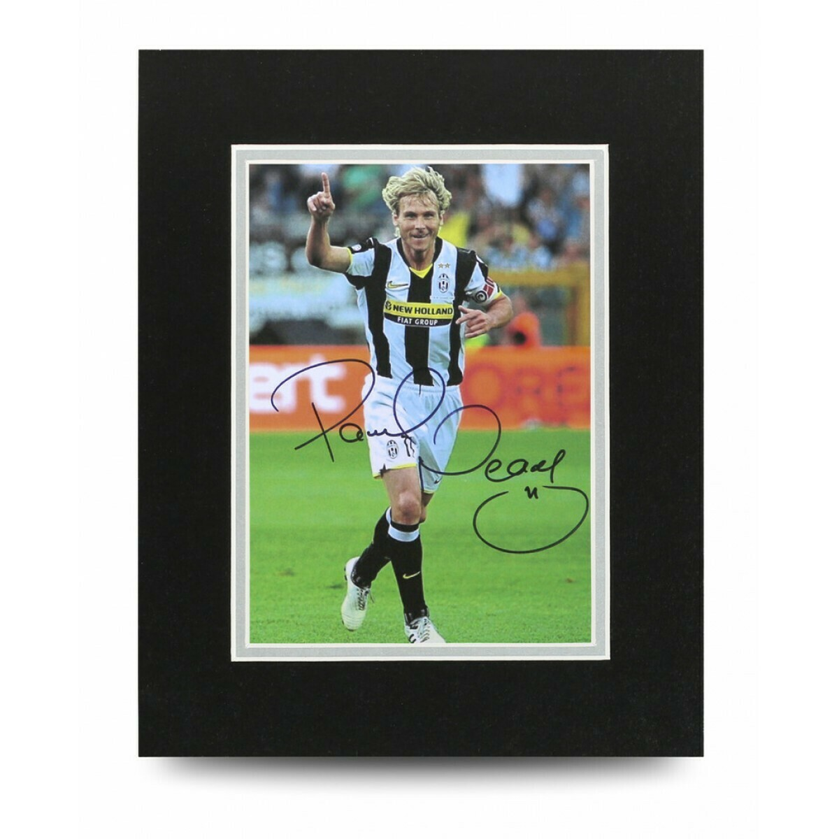 PAVEL NEVDED PHOTO NEDVDED  10*8 DISPLAY  AUTOGRAFATA SIGNED AUTOGRAPH SIGNED PAVEL NEVDED PHOTO SIGNED JUVENTUS