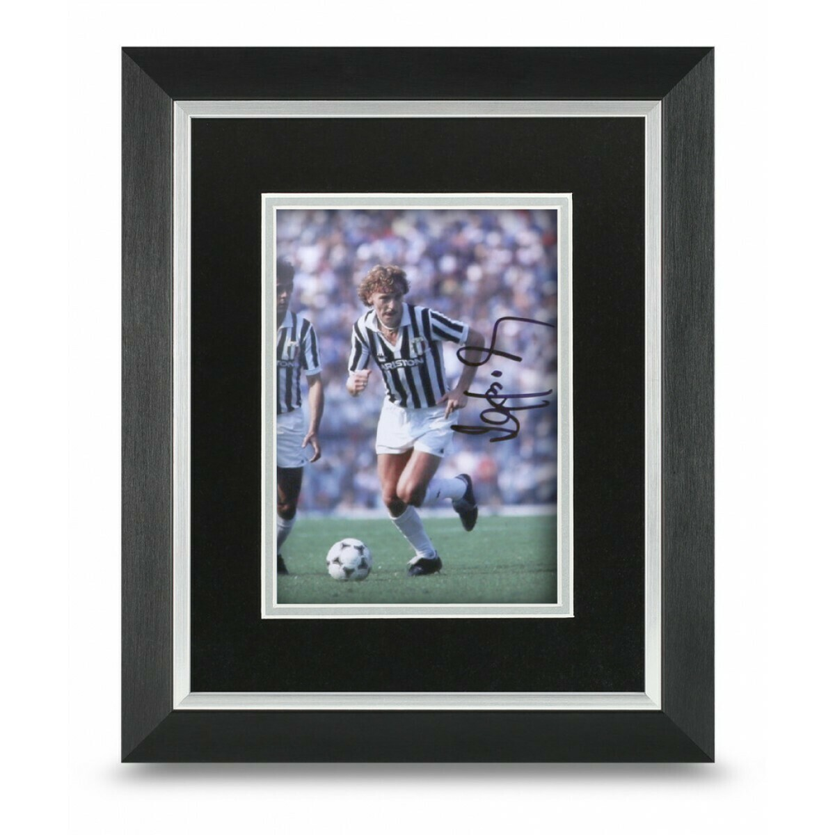 Zbigniew Boniek PHOTO framed  Zbigniew Boniek 10*8   AUTOGRAFATA  CORNICE SIGNED AUTOGRAPH SIGNED Zbigniew Boniek PHOTO FRAMED  SIGNED JUVENTUS