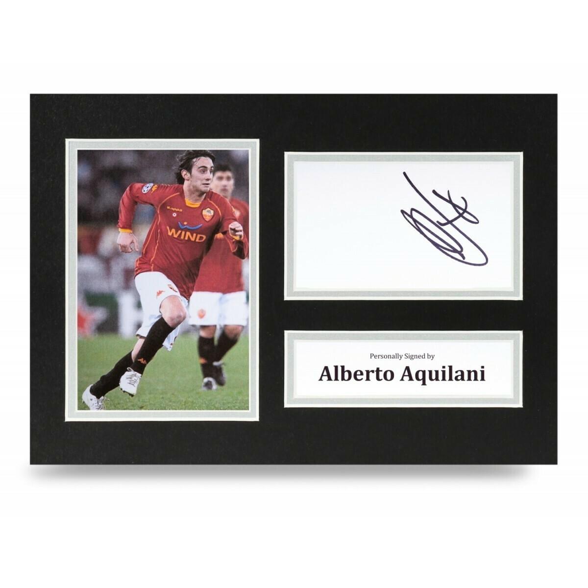 ALBERTO AQUILANI  DISPLAY  AUTOGRAFATA SIGNED AUTOGRAPH SIGNED ALBERTO AQUILANI PHOTO SIGNED ROMA Formato A4