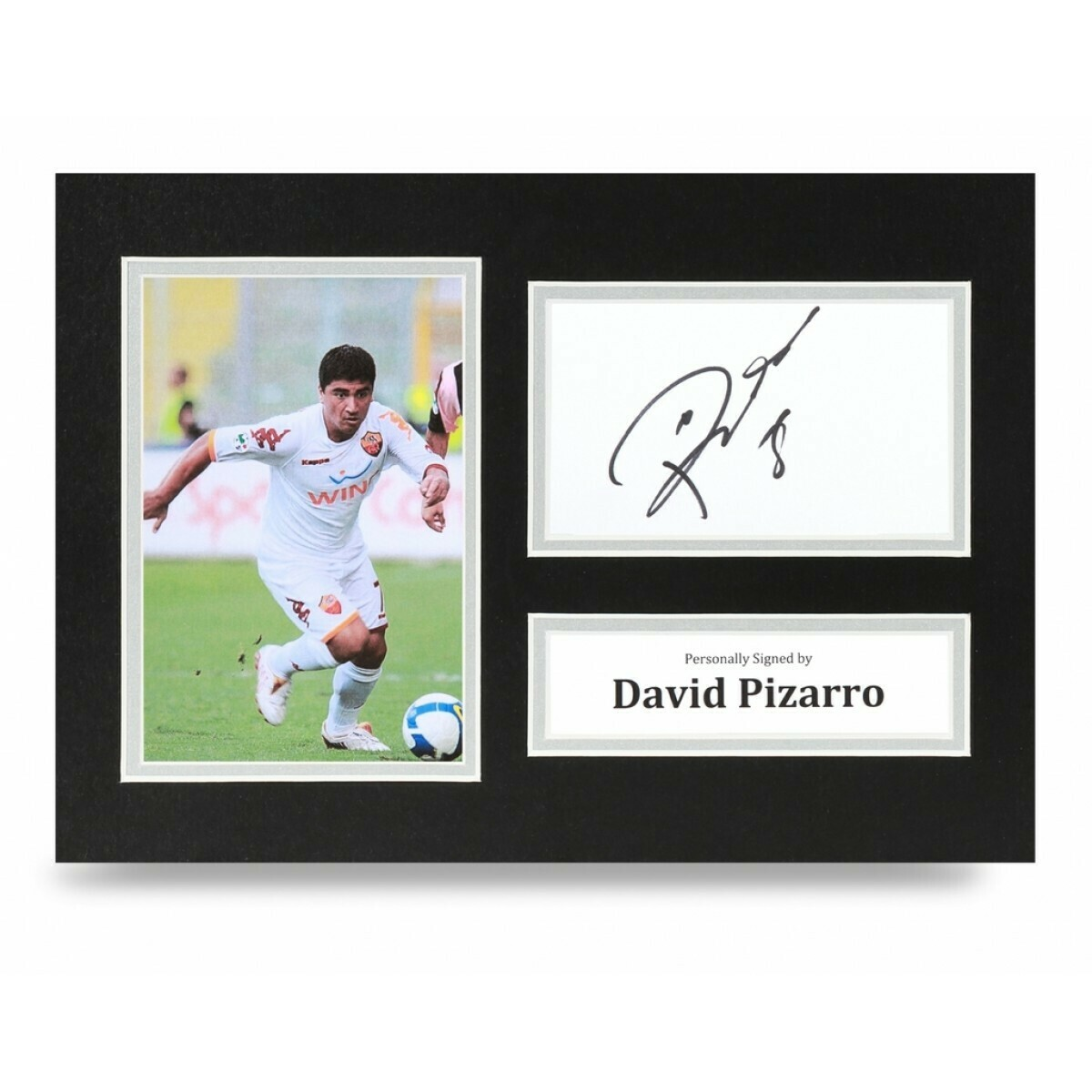 DAVID PIZARRO  DISPLAY  AUTOGRAFATA SIGNED AUTOGRAPH SIGNED DAVID PIZARRO PHOTO SIGNED ROMA Formato A4