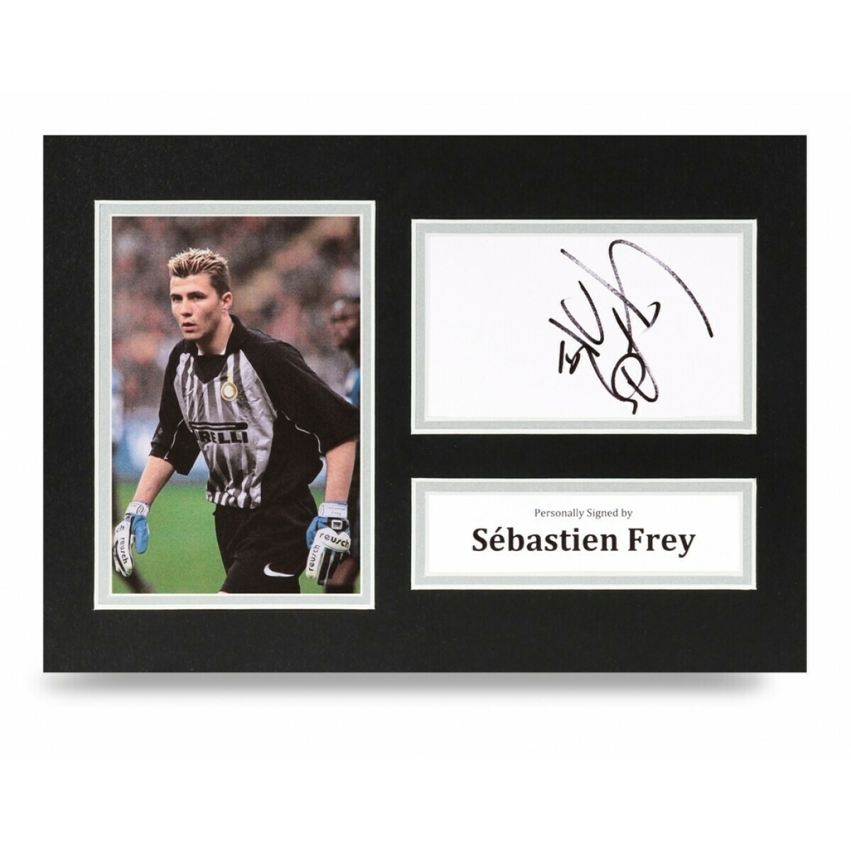 SEBASTIAN FREY INTER  DISPLAY  AUTOGRAFATA SIGNED AUTOGRAPH SIGNED FREY PHOTO SIGNED INTER SEBASTIAN FREY Formato A4