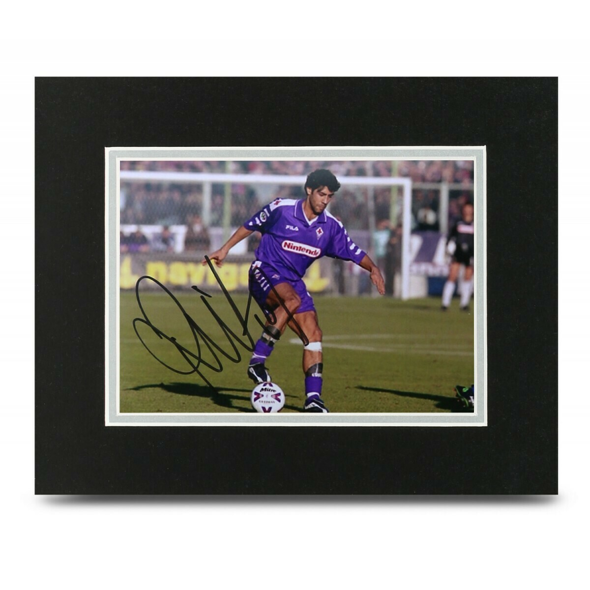 FIORENTINA  FOTO MANUEL RUI COSTA 10 PHOTO RUI COSTA  10*8 DISPLAY  AUTOGRAFATA SIGNED FIORENTINA
