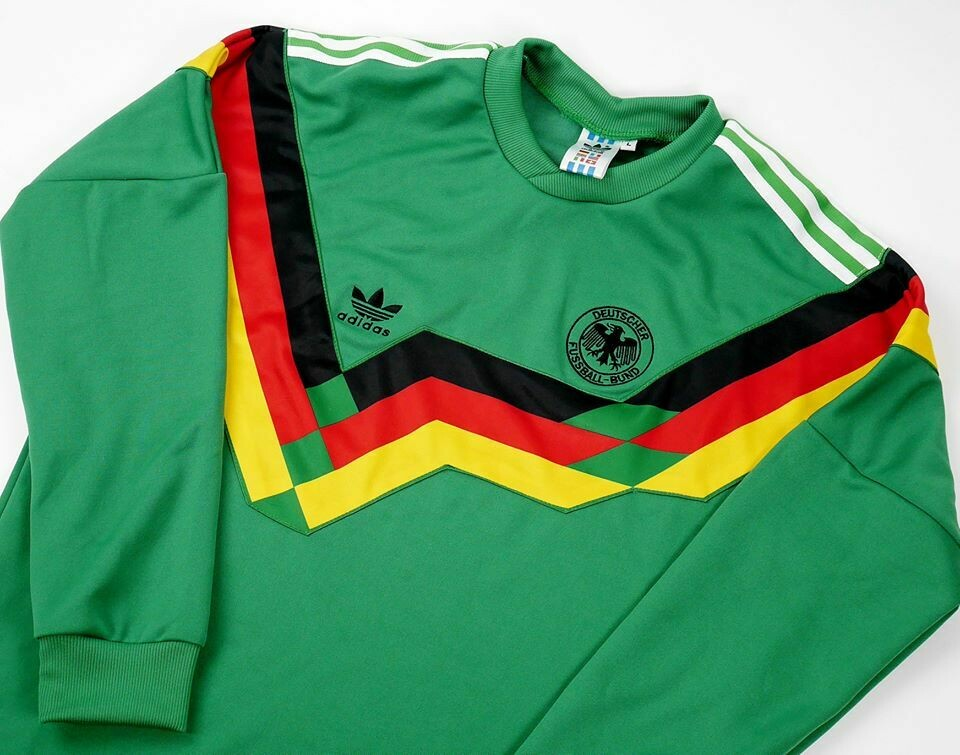 GERMANIA AWAY 1991 MAGLIA TRASFERTA GERMANY  1991 MANICHE LUNGHE LONG SLEEVES