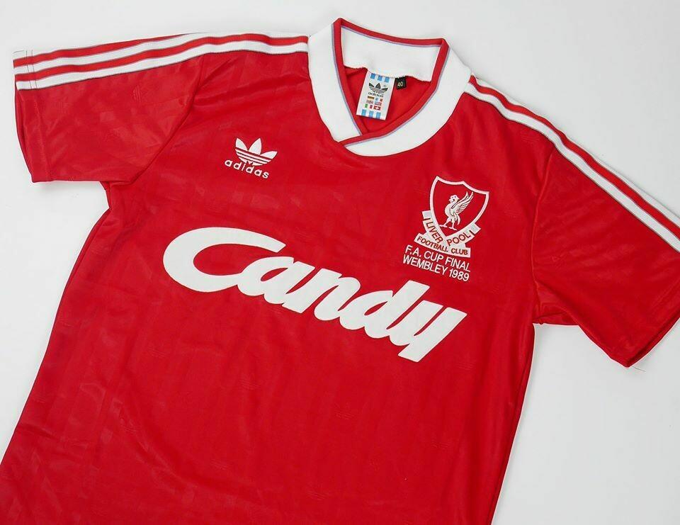 LIVERPOOL FINAL FA CUP 1989 FINALE FA CUP 1989 MAGLIA CASA  89