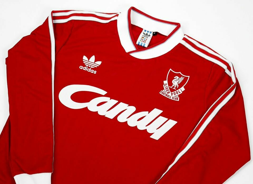LIVERPOOL HOME 1988-1989 LONG SLEEVED MAGLIA CASA 88 89