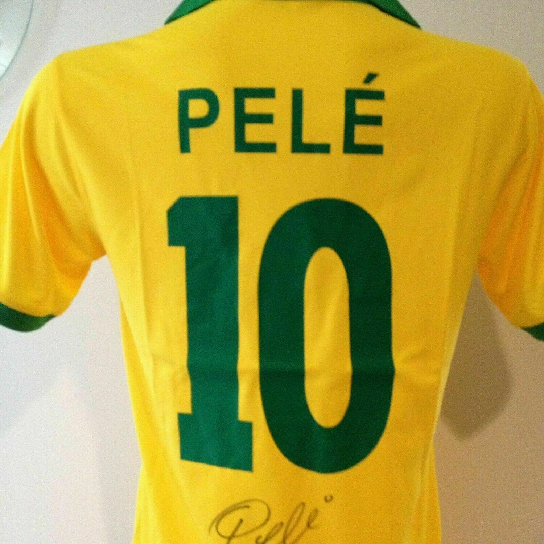 Brasile  Autografata da Pele con certificato di autenticita' Signed From PELE with certificate coa of authetincitiy