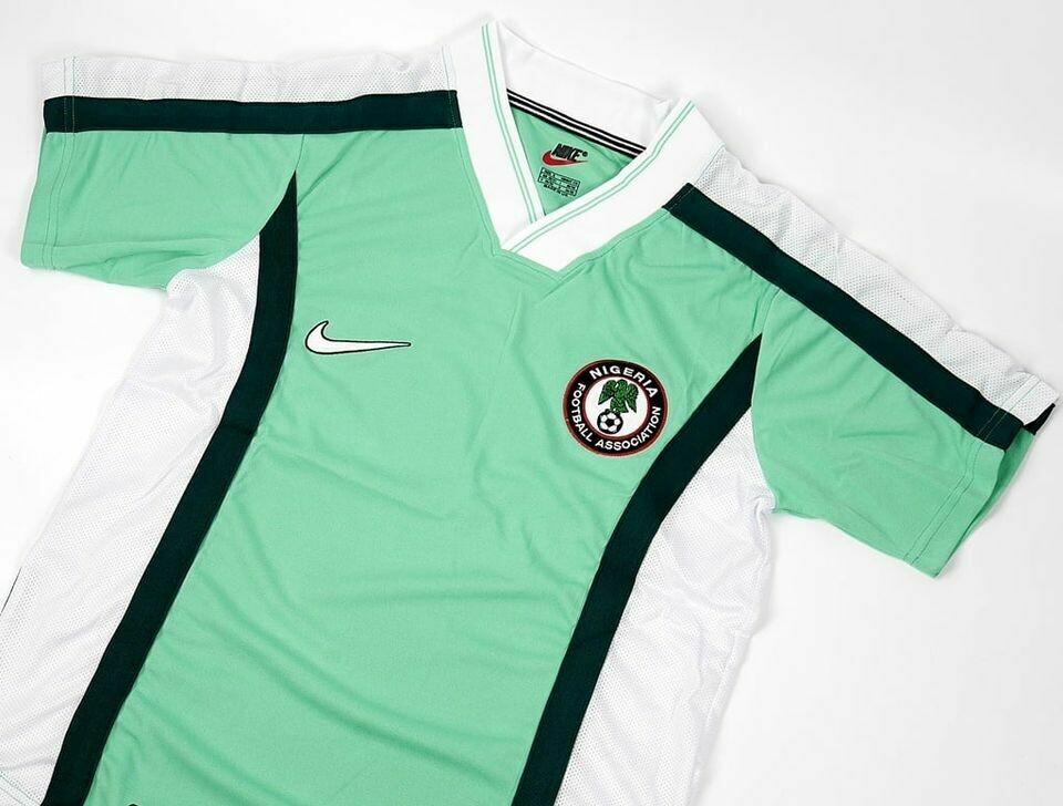 NIGERIA MAGLIA CASA WORLD CUP  1998 JERSEY HOME