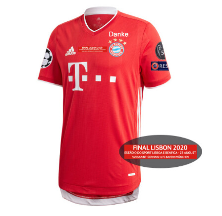 BAYERN HOME FINAL CHAMPIONS 2020  MAGLIA CASA BAYER MUNICH BAYER MONACO FINALE CHAMPIONS 2020 PLAYER VERSION