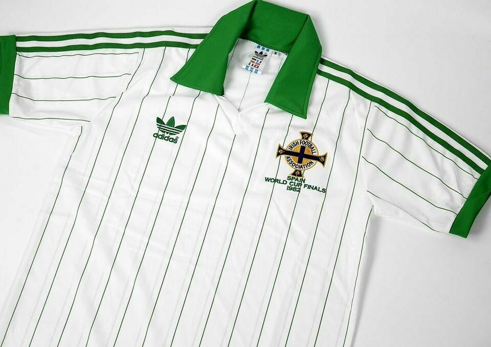 NORTHERN IRELAND AWAY FINAL 1982 NORD IRLANDA MAGLIA FINALE