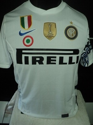 NR 68A INTER DRAGON 2010 2011 maglia trasferta jersey away triplette