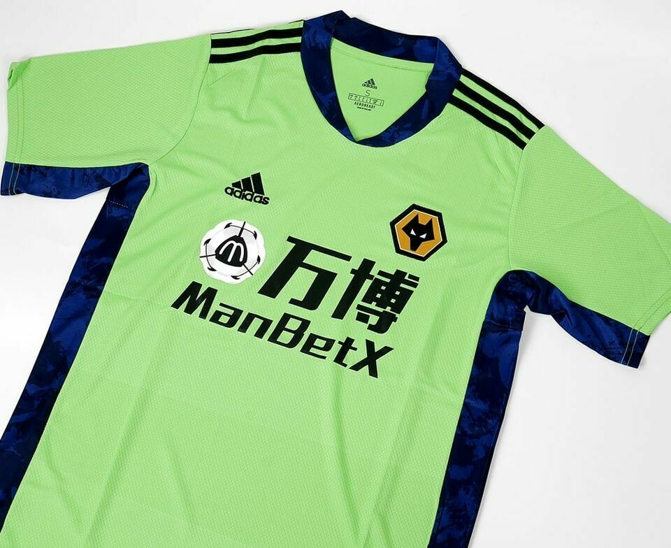WOLVERHAMPTON GOALKEEPER GREEN 2020-2021 MAGLIA PORTIERE WOLWES