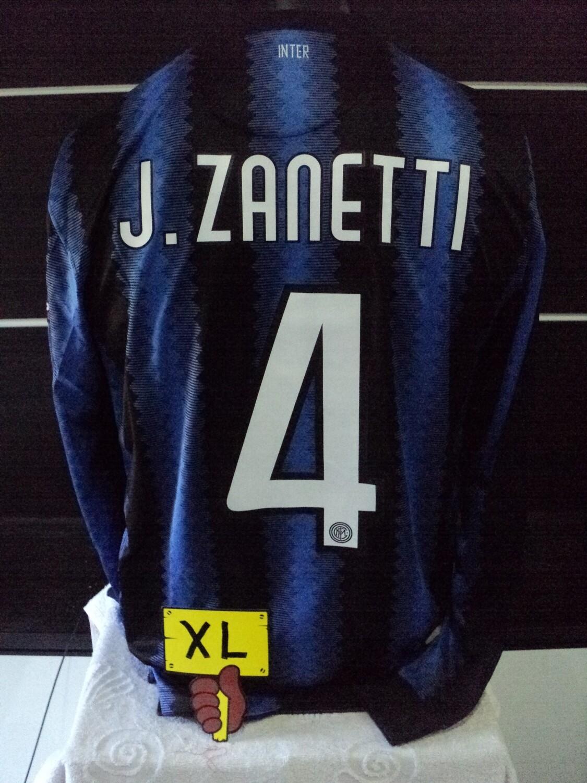 NR 274 INTER TRIPLETTE MAGLIA CASA JERSEY HOME TAGLIA XL SIZE XL ZANETTI 4