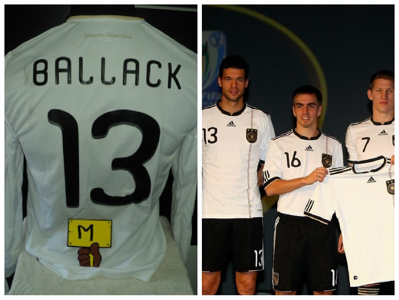 NR 56  GERMANIA WORLD CUP 2010  GERMANY LONG SLEEVES BALLACK 13 TAGLIA M SIZE M