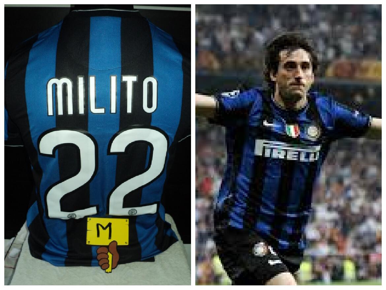 NR 53   INTER FINAL MADRID 2010 MILITO 22 TAGLIA M SIZE M