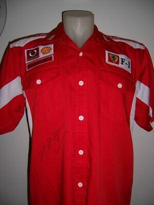 T shirt Ferrari  Autografata MICHAEL SCHUMACHER T Shirt Ferrari Signed Autograph MICHAEL SCHUMACHER