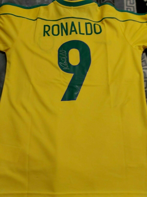 BRASILE FINAL WORLD CUP 1998  RONALDO 9 FENOMENO  AUTOGRAFATA SIGNED AUTOGRAPH RONALDO DE LIMA FENOMENO BRAZIL WORLD CUP 1998 FINALE