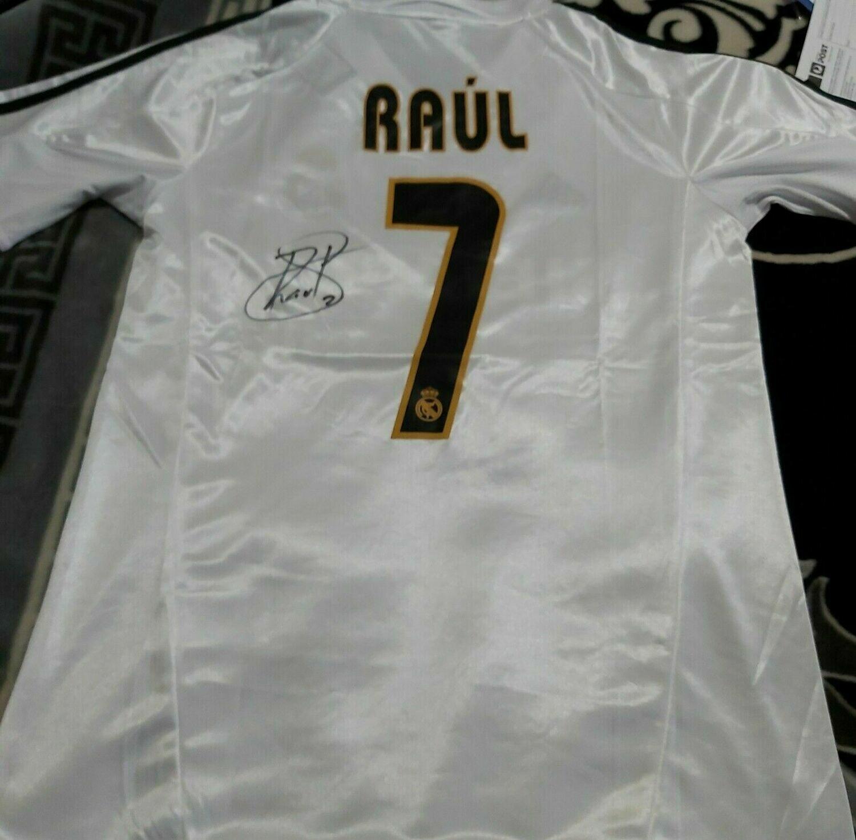REAL MADRID SIEMENS RAUL BLANCO 7   AUTOGRAFATA SIGNED AUTOGRAPH RAUL 7  REAL MADRID
