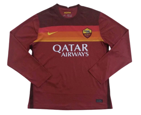 ROMA HOME 2020-2021 MAGLIA CASA 20 21 JERSEY HOME MANICHE LUNGHE LONG SLEEVES