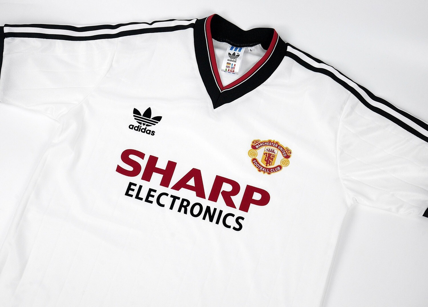 MAN UTD AWAY 1982-1983 SHARP ELECTRONIC MAGLIA TRASFERTA AWAY 82 83