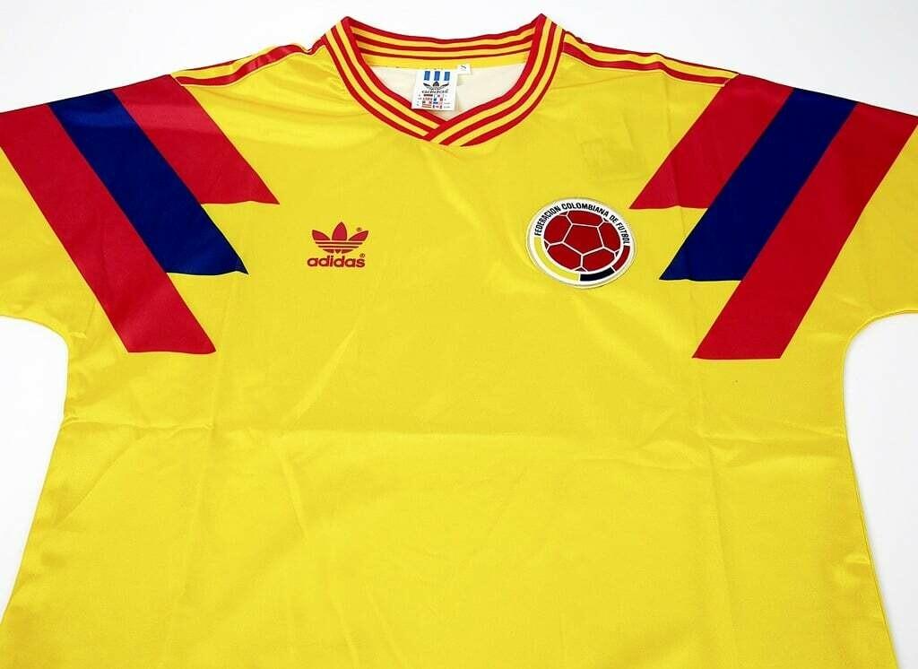 COLOMBIA MAGLIA CASA JERSEY HOME 1990 WORLD CUP 90