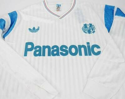 OM MARSEILLE HOME 1990-1991 LONG SLEEVED MANICHE LUNGHE 90 91