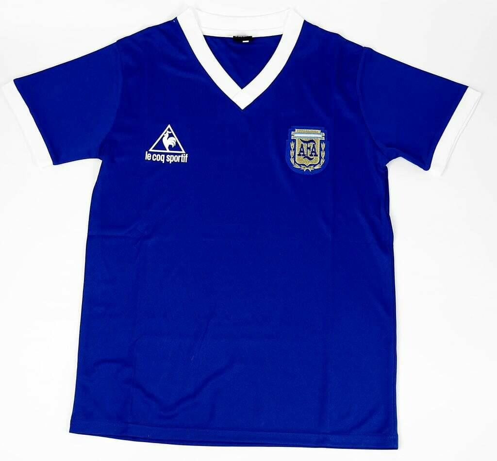 ARGENTINA AWAY WC 1986 HAND OF GODS MAGLIA TRASFERTA MONDIALI WORLD CUP 1986 MARADONA