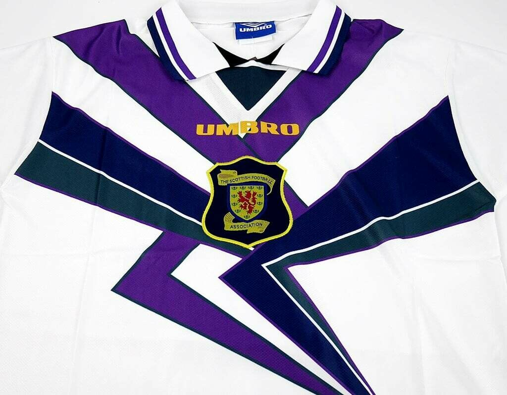 SCOTLAND AWAY WHITE 1996-1997 MAGLIA TRASFERTA JERSEY AWAY 96 97