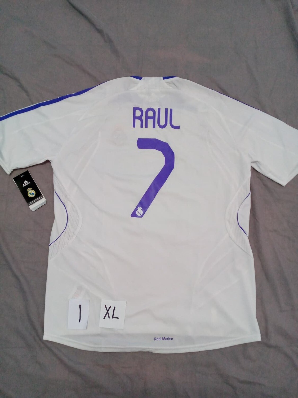 NR 1 REAL MADRID BIANCA WHITE RAUL TAGLIA XL SIZE XL