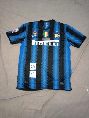 NR 25 INTER WORLD CUP ABU DHABI MILITO SIZE XL TAGLIA XL