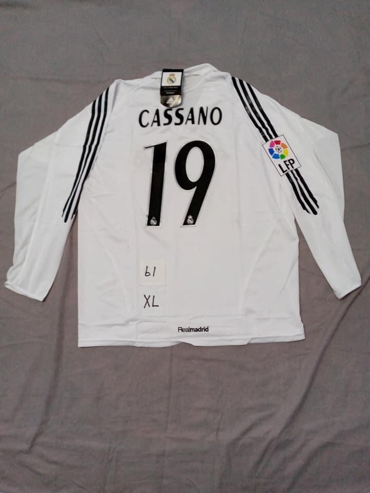 REAL MADRID MAGLIA CASA JERSEY HOME CASSANO 19 TAGLIA XL SIZE XL