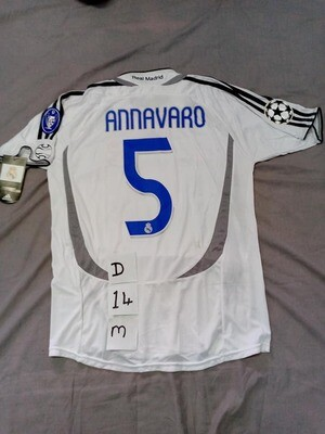DIFETTO DIFECT REAL MADRID ANNAVARO 5 wrong  name TAGLIA M SIZE M