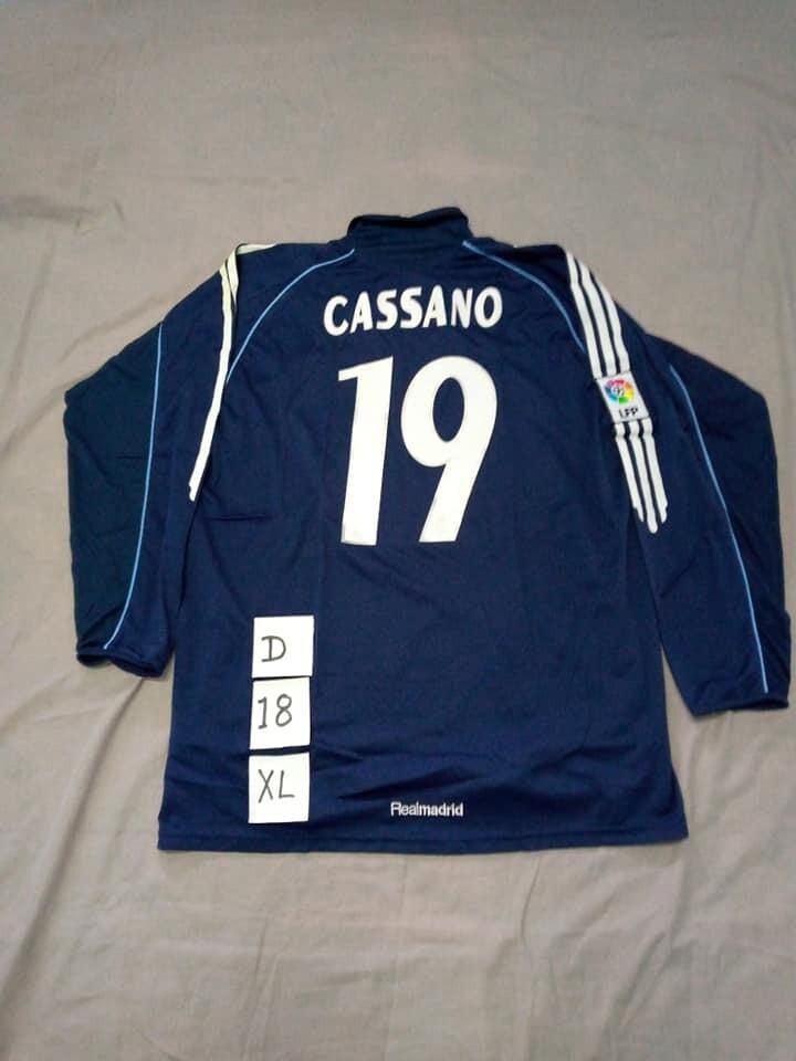REAL MADRID MAGLIA TRASFERTA JERSEY AWAY CASSANO 19 TAGLIA XL SIZE XL