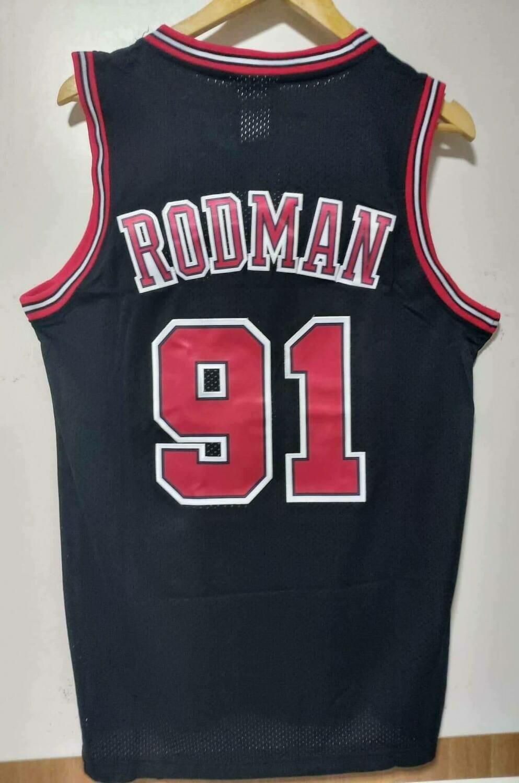 NBA BULLS CHICAGO  RODMAN 91   JERSEY MAGLIA