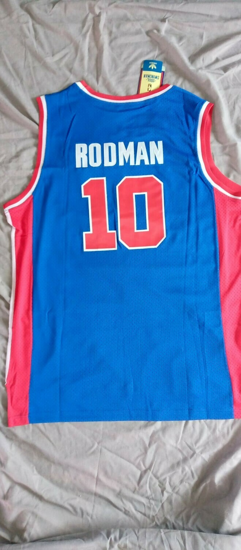NBA DETROIT PISTONS RODMAN 10   JERSEY MAGLIA