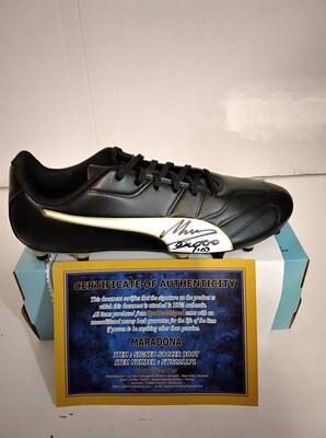 Scarpa Autografata Diego Armando Maradona  Signed Diego Armando Maradona Pibe D Oro with COA certificate PRONTA CONSEGNA ITALIA STOCK ITALY READY TO SHIP
