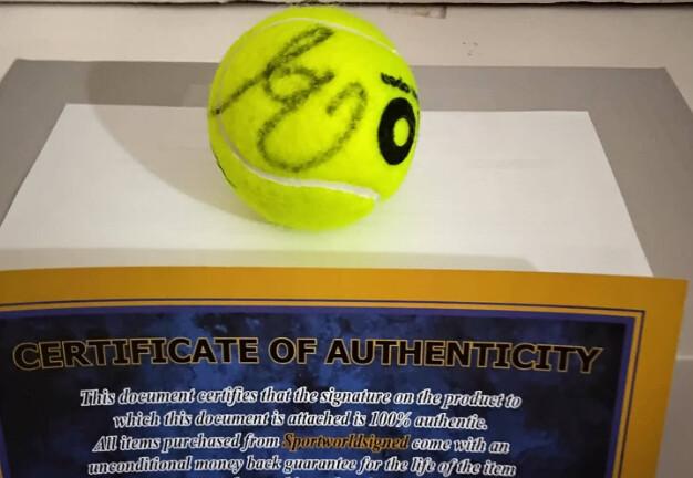Pallina Tennis RAFAEL NADAL  Autografata  Signed NADAL RAFAEL with COA certificate of authenticity PRONTA CONSEGNA ITALIA  READY TO SHIP ITALY