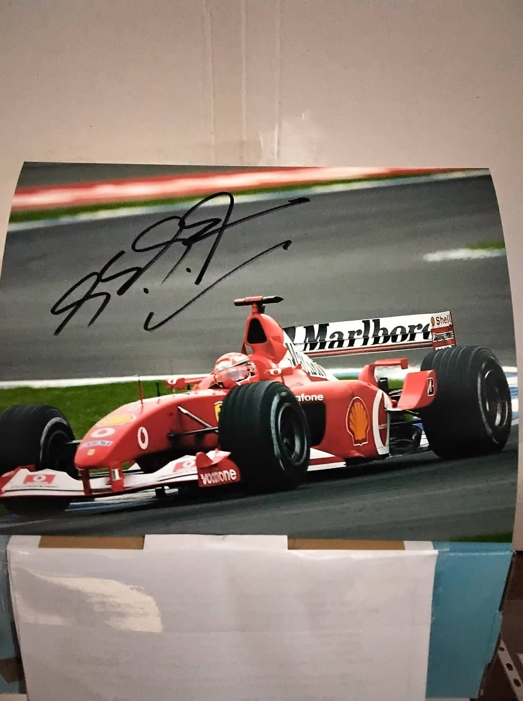 FOTO Michael Schumacher Autografata Signed + COA Photo MICHAEL SCHUMACHER  Autografato Signed