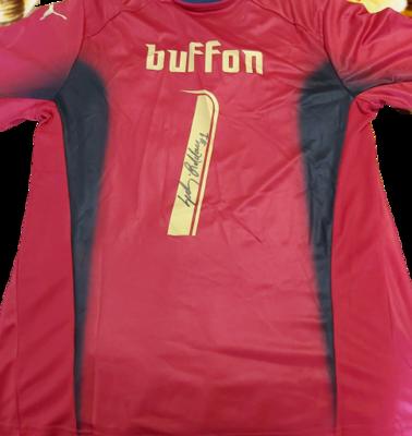 ITALIA ITALY GIANLUIGI BUFFON AUTOGRAFATA SIGNED AUTOGRAPH JERSEY ITALIA RETRO ITALY SIGNED AUTOGRAPH BUFFON 1